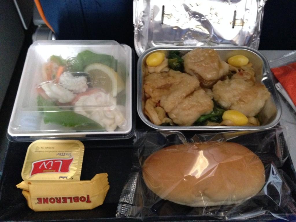 アエロフロートの機内食2