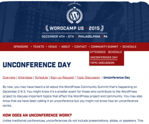 WordCamp US Web サイトのキャプチャ